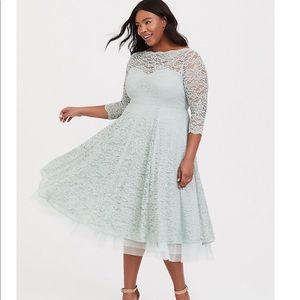 Mint lace formal dress size 28 plus size